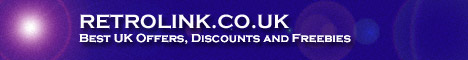 RETROLINK: Discount Vouchers and Offers for UK Shopping, Finance, Travel and Betting.